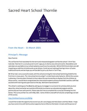 Newsletter 2021 – 31st March